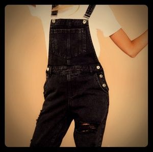 Brand new with tags black overalls